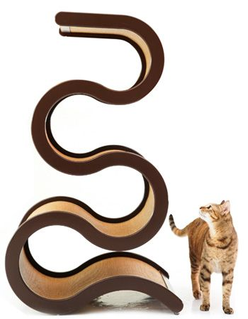 Keiko chan needs this!  Curvynest Cat Tree from Catswall Design