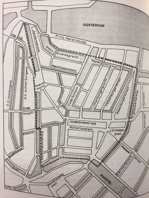 Plan, showing the sealed off area in the Jewish quarter in Amsterdam, with the Jonas Daniël Meijerplein. Reproduced in: B. A. Sijes, De Februaristaking. (Amsterdam, 1978) X:702/3672 - See more at: http://britishlibrary.typepad.co.uk/european/#sthash.hnzUdJhs.dpuf