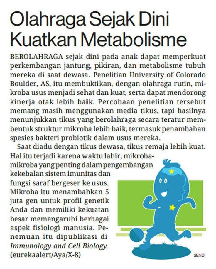 Olahraga Sejak Dini kuatkan Metabolisme