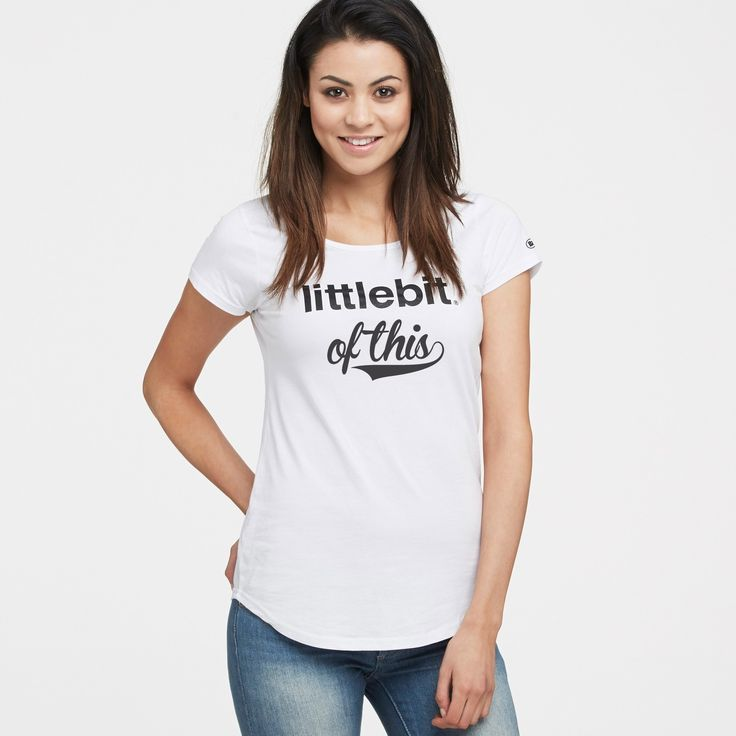 This perfect scoop neck tee can be worn all year round with jeans, shorts or that cute denim skirt. Available in black, navy, white and grey marle. Shop the #littlebit range of #womensclothing #womenstees #scoopneck #tees at littlebit.com/women.html.