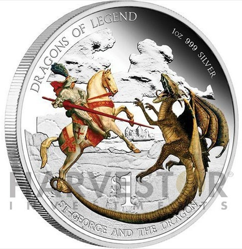 2012 Dragons of Legend Saint St. George and the Dragon Silver 1 oz Coin at http://e-coins.tv/index.php?q=2012+George+Dragon