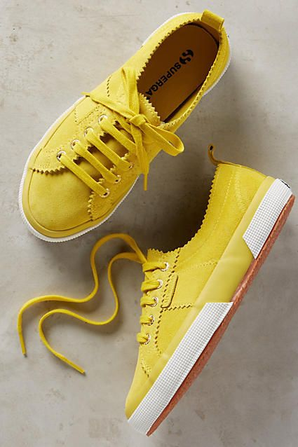 Superga Suede Sneakers Yellow 35 Euro Sneakers. Yellow Tennis Shoes