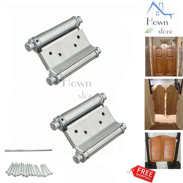 "Hinge 5"" Double Action Spring Adjustable Swing Door Stainless Steel Saloon Cafe  #XIEHE"