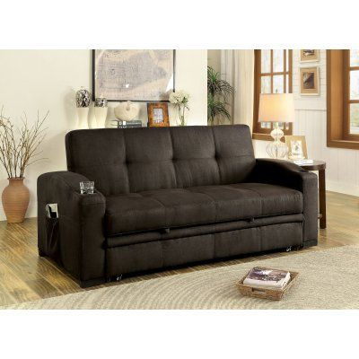 Furniture of America Logan Transitional Style Tufted Cushion Sleeper Sofa - IDF-2691