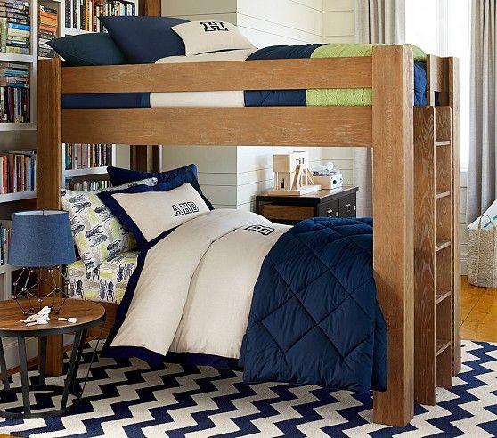 a navy urban boys room with bug sheeting boys bedroom ideas pinterest pottery barn kids. Black Bedroom Furniture Sets. Home Design Ideas
