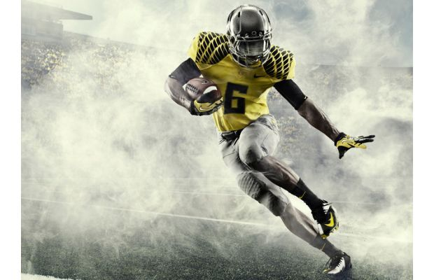 Nike's New Integrated Uniform System For Oregon Ducks Season - haha looks like he threw a smokescreen