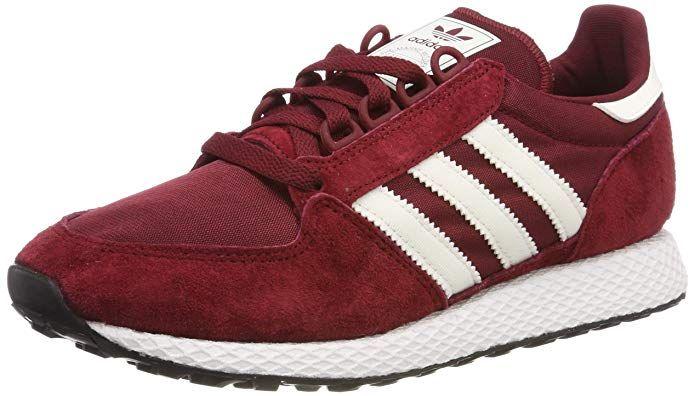 Adidas Forest Grove Herren Schuhe Rot Collegiate Burgundy Mit Weissen Streifen Adidas Schuhe Gunstige Schuhe