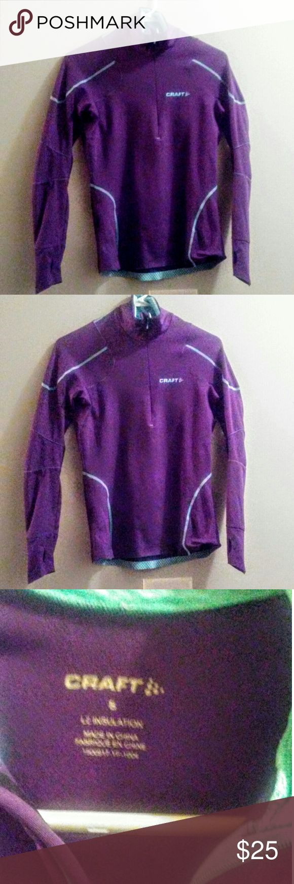Craft athletic performance quarter zip Purple and teal blue a athletic performance quarter zip long sleeved shirt size small craft  Tops