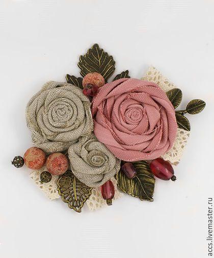 """Броши ручной работы. Ярмарка Мастеров - ручная работа. Купить Брошь """"Цветы июня"""" - брошь в форме цветков. Handmade. Брошь"""