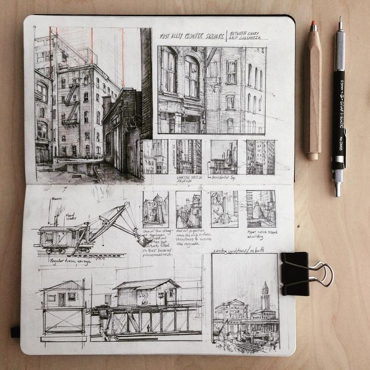 Pioneer Square. Observations and Ideas in Moleskine Drawings. By Jerome Tryon.