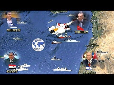 Turkey and Northern Cyprus VS Greece, Israel, Egypt and