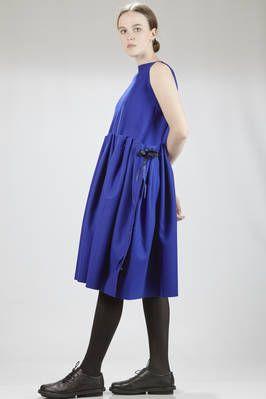 Daniela Gregis | calf-length dress in felted wool cloth | #danielagregis