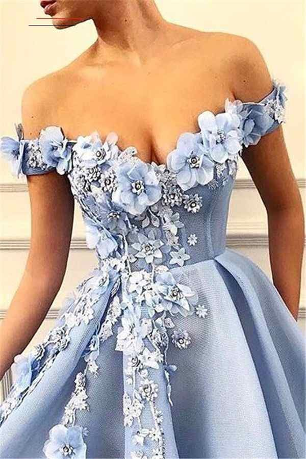 Elegante Abendkleider Lang Blau | Abiballkleider Online ...