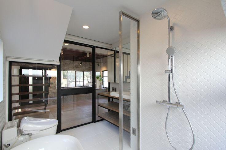 BATHROOM/POWDERROOM/TOILET/TILE/浴室/洗面室/トイレ/タイル/フィールドガレージ/FieldGarage INC./リノベーション