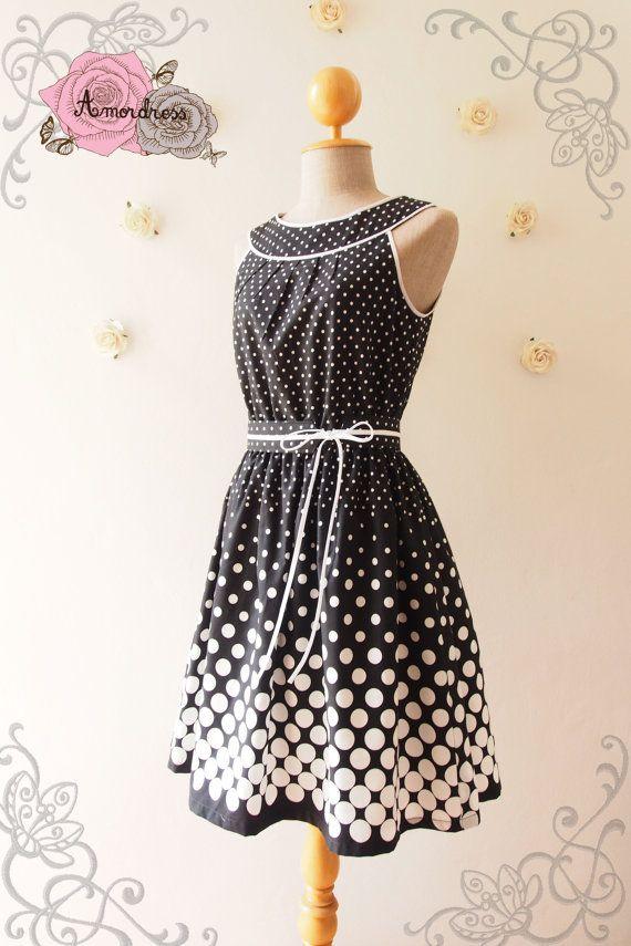 Darling Dress : Summer Dress Chic Sundress Black and by Amordress
