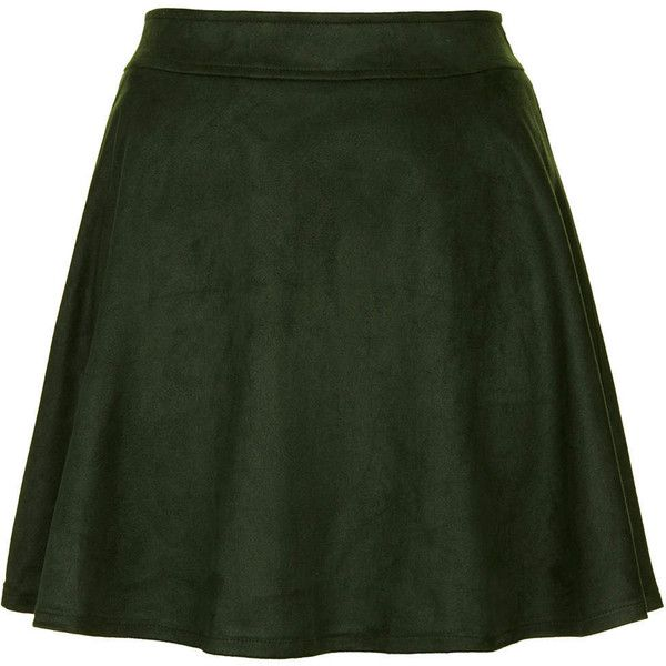 **Sea Green Faux Suede Skirt by Sister Jane (£29) found on Polyvore featuring women's fashion, skirts, mini skirts, bottoms, faldas, green, short skirts, zip skirt, short mini skirts and faux suede mini skirt