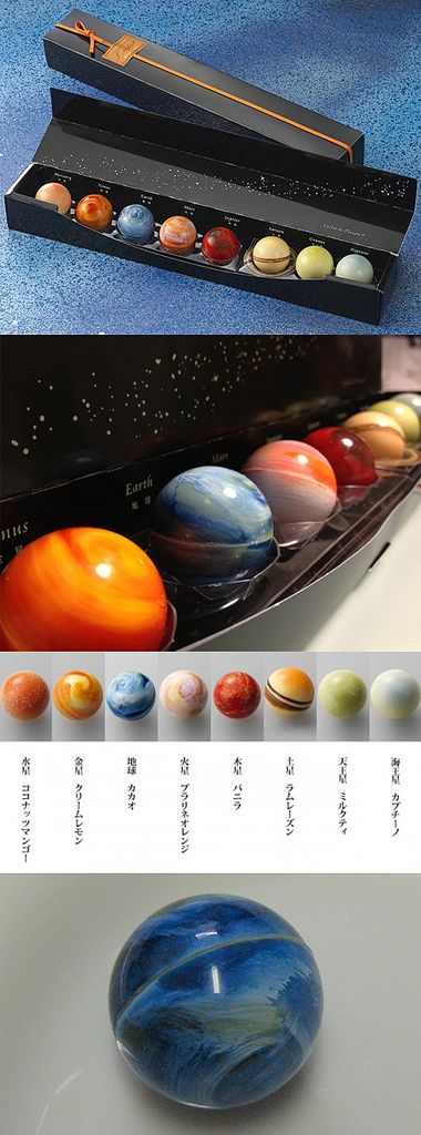 Solar System Chocolate. Good idea for a set of soaps or bath bombs