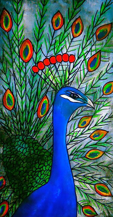 Peacock painting fine art print by Laura Carter #peacock #peacockfeathers #art