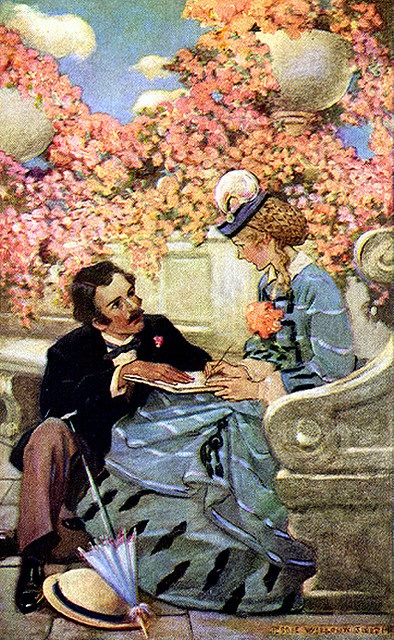 illustration from the book Little Women  by Jessie Willcox Smith