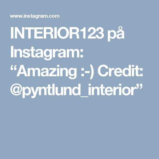 "INTERIOR123 på Instagram: ""Amazing :-) Credit: @pyntlund_interior"""