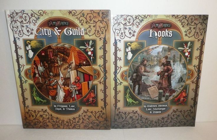Ars Magica RPG Gaming Book Lot HOOKS, CITY and GUILD by Atlas Games Roleplaying #AtlasGames