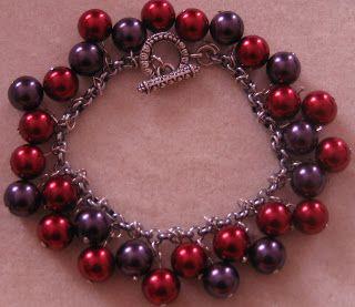 Jasseron armband in paars en rood