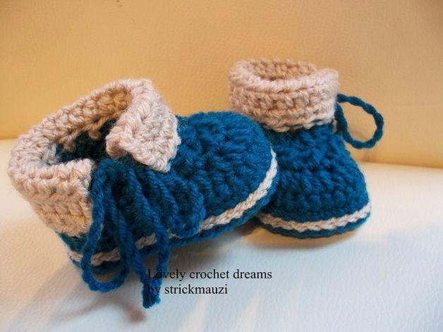 """Häkelanleitungen - Häkelanleitung Babyschuhe """"Nik"""",E-Book, #51 - ein Designerstück von Anja-Tissen bei DaWanda"""