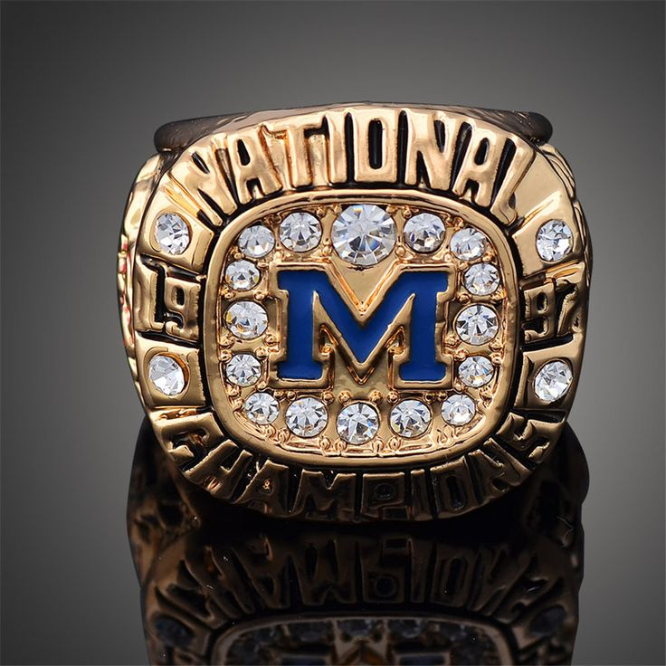 Fashion sales Sports championship Rings 1997 Michigan State University NCAA National League Rose Bowl Champion Ring Classic coll