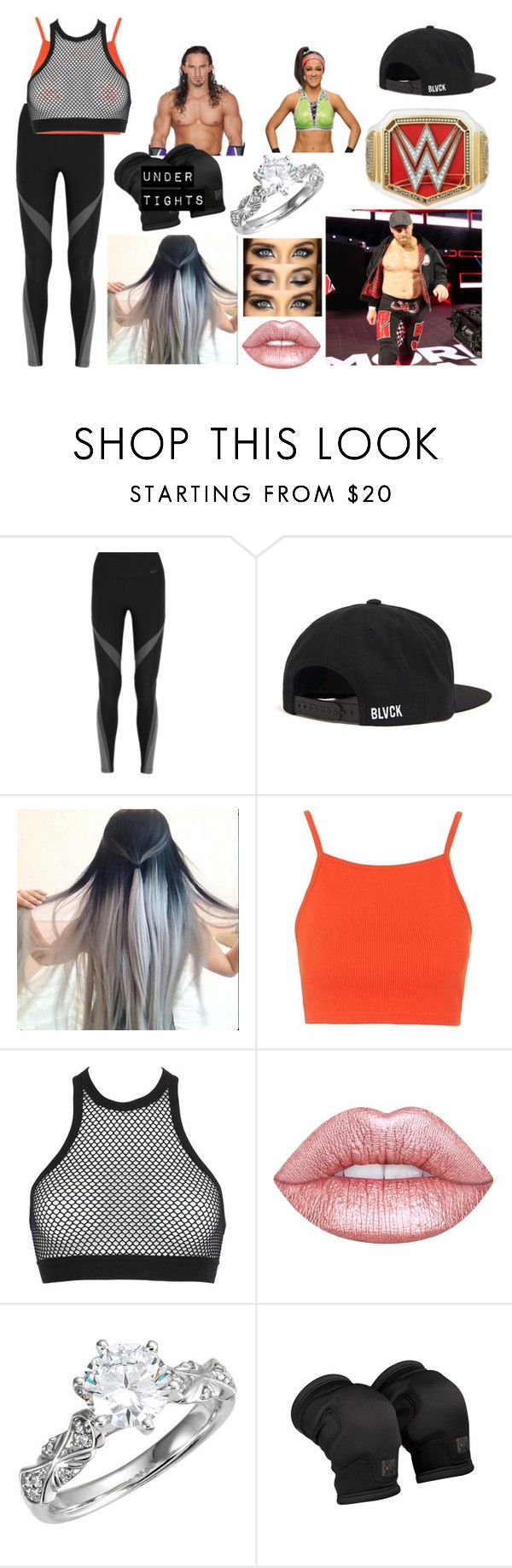 """Elle Rollins and Sami Zayn vs. Bayley and Neville"" by fashionbabe-1738 ❤ liked on Polyvore featuring NIKE, Neville, WWE, Topshop, Dsquared2, O'Neil and Lime Crime"