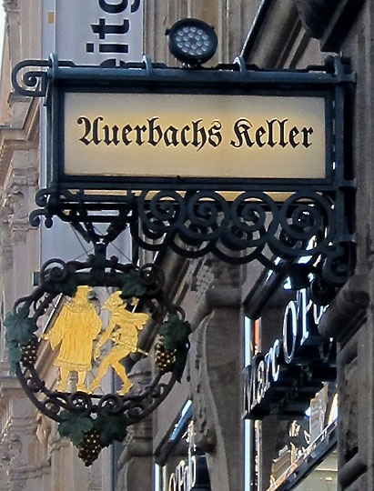 Auersbachs Keller sign Leipzig Germany and I ate there! Yummy