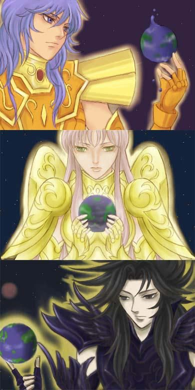 Poseidon, Athena e Hades