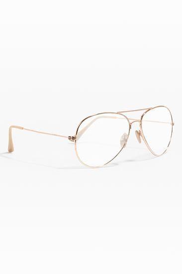 Classic 58mm Clear Aviator Glasses - Gold - 2576-1  aviationglamourglasses b7ed2a2f97e