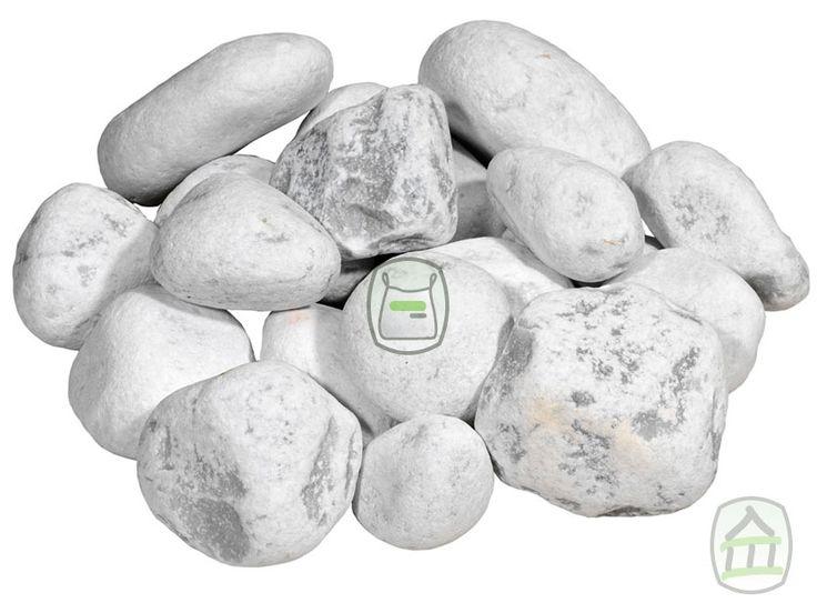 Carrara keien zijn witte ronde getrommelde keien afkomstig uit Italië. Deze keien van marmer zijn zeer populair en geschikt voor bijv. steenkorven, decoratie, grondkering etc. http://www.siergrindwinkel.nl/keien-sierkeien/carrara-keien-p-560.html