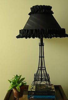 I have this lamp in my room, it needs a nice accented lampshade like this one- the boring white does not do it justice!!!