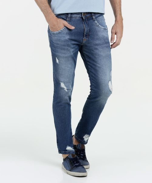 Calca Masculina Jeans Destroyed Skinny Biotipo - Calca Masculina Jeans  Destroyed Skinny Biotipo - Calca masculina skinny f55e9fd9b5e