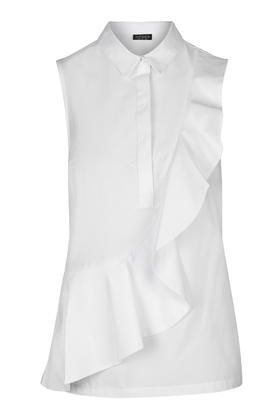 Short Sleeve Ruffle Shirt