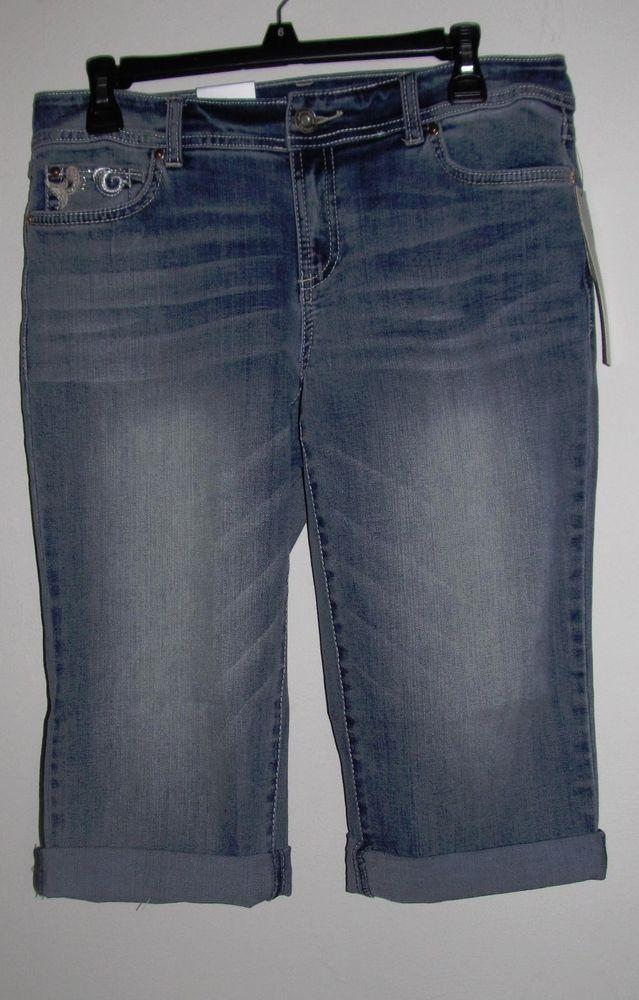 Womens INC International Concepts Curvy Fit Blue Jean Cropped Capri Pants  6 NWT #INCInternationalConcepts #CurvyFit
