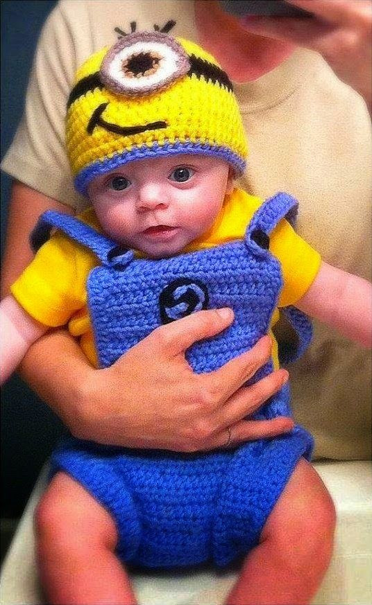 Crochet Patterns For Baby Overalls : 17 Best ideas about Minion Outfit on Pinterest Minion ...
