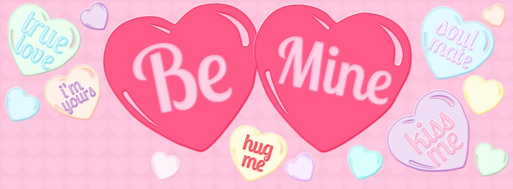 """""""Conversation Hearts"""" Timeline Cover. [more at Pink Bow Timeline Covers on FB.]"""