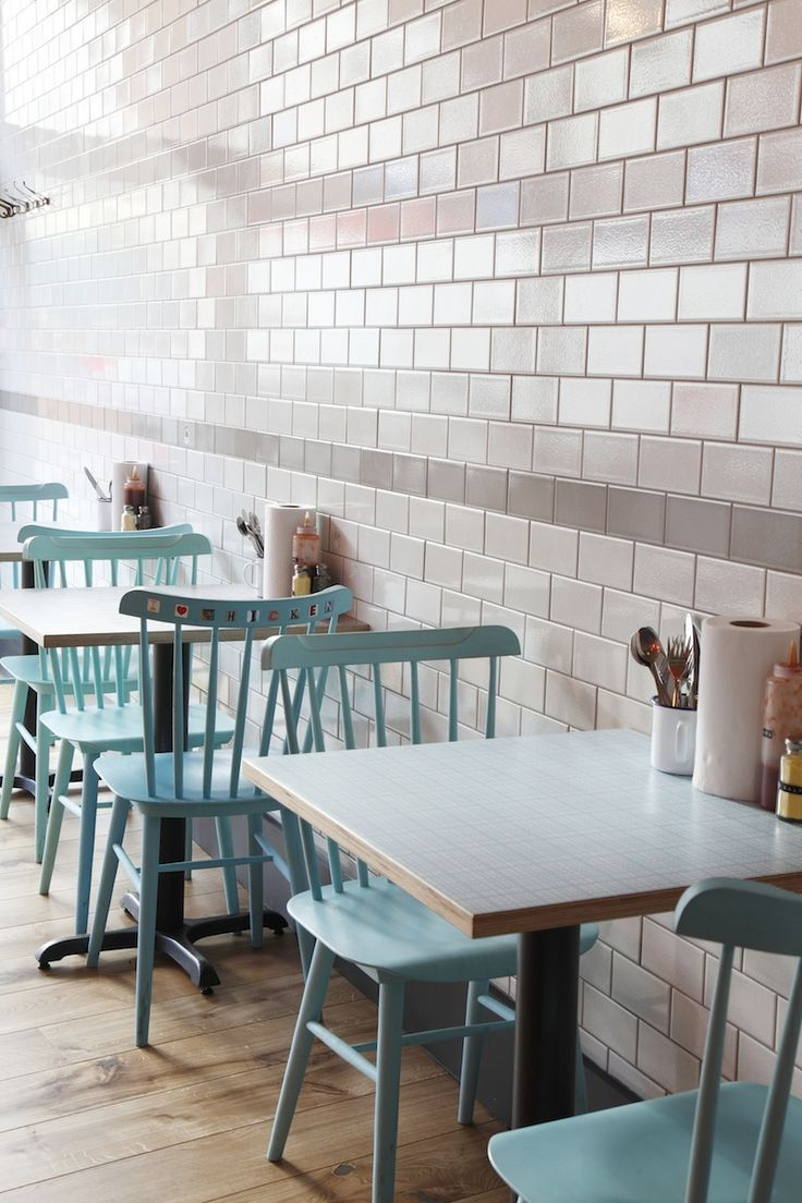 Central Design Studio - Chooks restaurant in London  Check out the cool blue color.