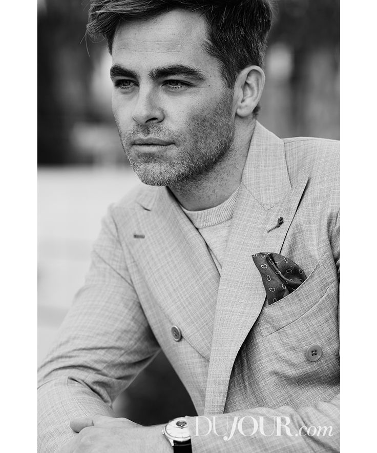 """""""The Finest Hours,"""" """"Star Trek,"""" and """"Wonder Woman"""" star Chris Pine in Isaia, Brooks Brothers, and Jaeger-LeCoultre."""