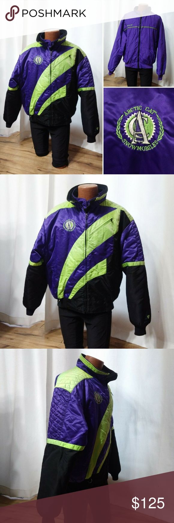 Vintage 90's Arctic Cat Snowmobile 2 in 1 Coat XL Coat