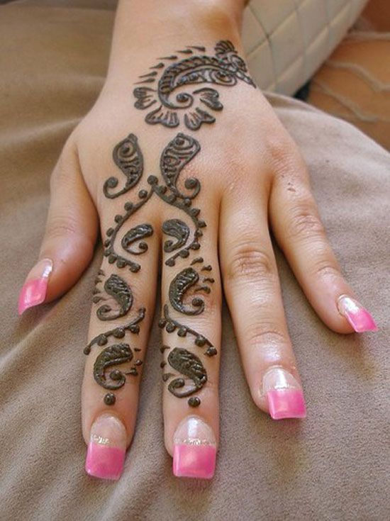 Mehndi Henna On Hair : Best images about indian small mehndi henna design on