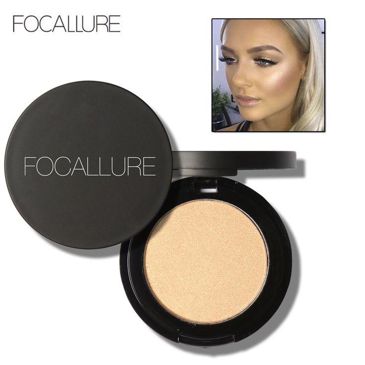 Merek FOCALLURE Stabilo Shimmer Makeup Wajah Bubuk Glitter Mineral Make Up Bronzer Highlighter Bronzer Contour Powder