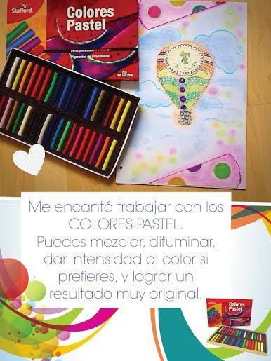 Con los colores Pastel de Stafford, ¡tus dibujos quedarán increíbles!