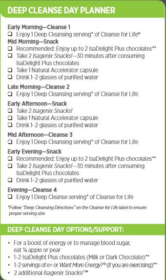 Isagenix 9 Day Cleanse Planner