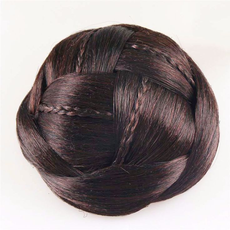 New Novelty Hair Accessories for Women Good quality Hair Braided Chignon Synthetic Hair Bun Extensions HB053