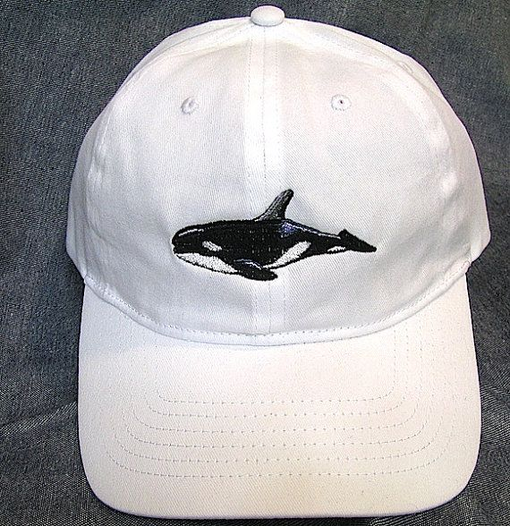 killer whale baseball cap white caps