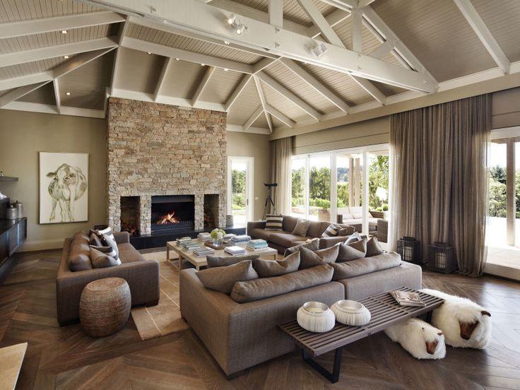 Eco Outdoor Alpine drystone internal fireplace, design by Paul Bangay. Eco…