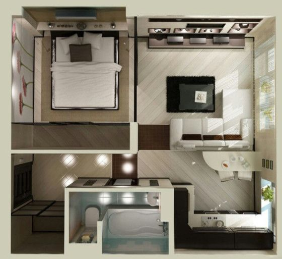 plano de apartamento peque o habitaciones estudiantiles